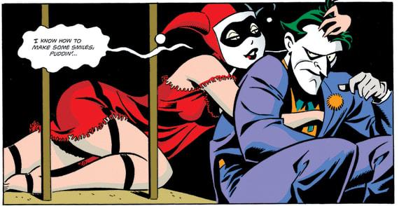 Harley Quinn & The Joker in Mad Love Comic