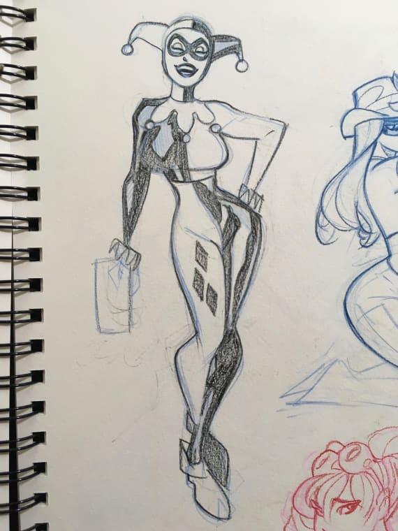 Harley Quinn Original Sketch