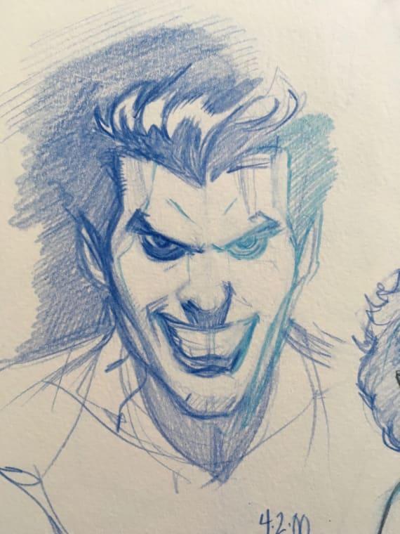 The Joker Original Sketch Comic