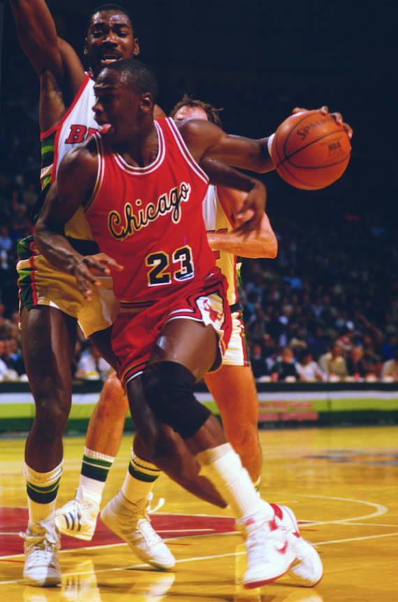 Michael Jordan Wearing Nike Air Ship 2