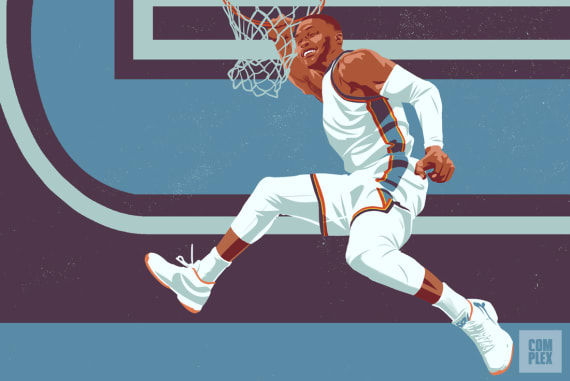 Russell Westbrook NBA MVP Race Longcroft Illustration 2017