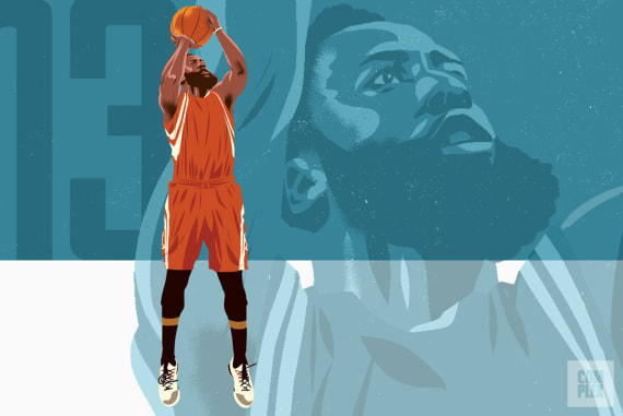 James Harden NBA MVP Race Longcroft Illustration 2017 2