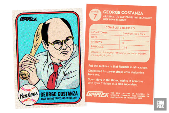 George Costanza Oral History of Baseball on Seinfeld Version 2 Baseball Card