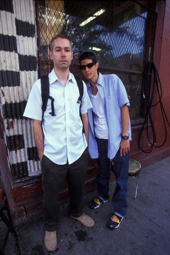 Adam Yauch and Mike Diamond of The Beastie Boys in New York, September 14, 2000.