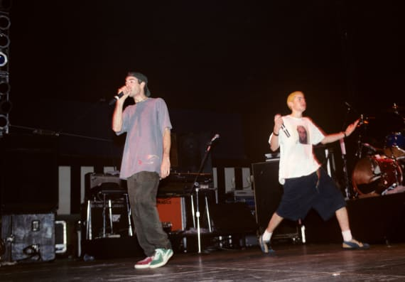 The Beastie Boys perform at Roseland in New York City on November 7, 1992.