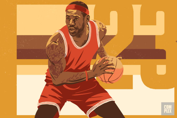 LeBron James NBA MVP Race Longcroft Illustration 2017