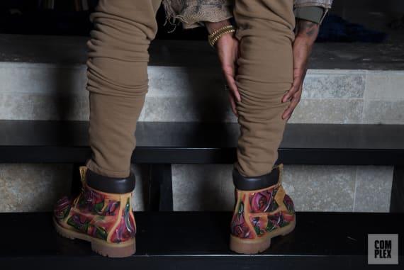 Iman Shumpert's custom Timberland boots.