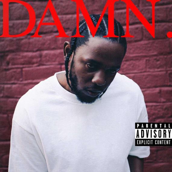 Kendrick Lamar's 'DAMN.' cover art.