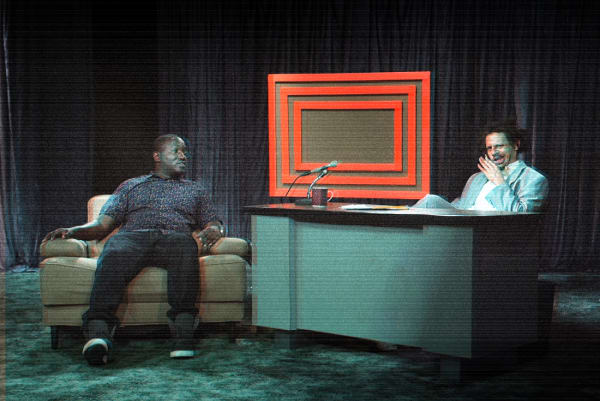 Eric Andre and Hannibal Buress in Eric Andre Show Season 4