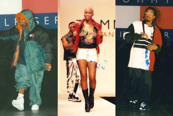 Raekwon, Eve, Jermain Dupri in Tommy Hilfiger runway show