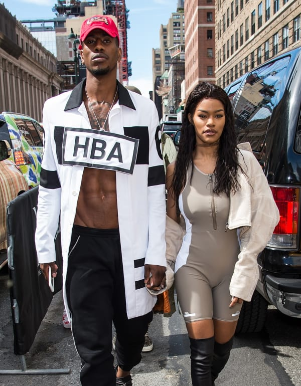 Iman Shumpert and Teyana Taylor at the Hood by Air Spring 2017 show during New York Fashion Week.