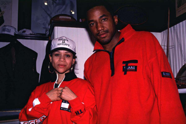 Rosie Perez and Q-Tip Wearing Tommy Hilfiger