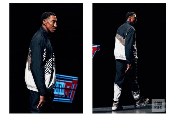 Scottie Pippen walking in Kith's show