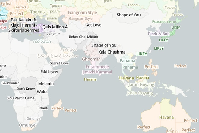 This Interactive Map Shows The Most Popular Song in 3000 Locations