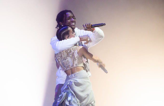"FKA Twigs Brought Out ASAP Rocky for ""Fukk Sleep"" in New York"