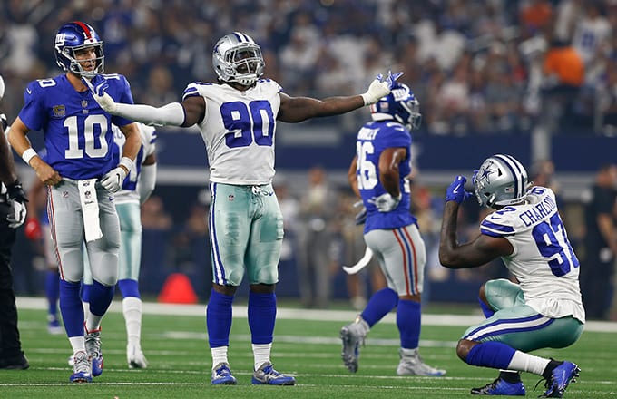 Cowboys' DeMarcus Lawrence Trolls Giants for Keeping Eli Manning