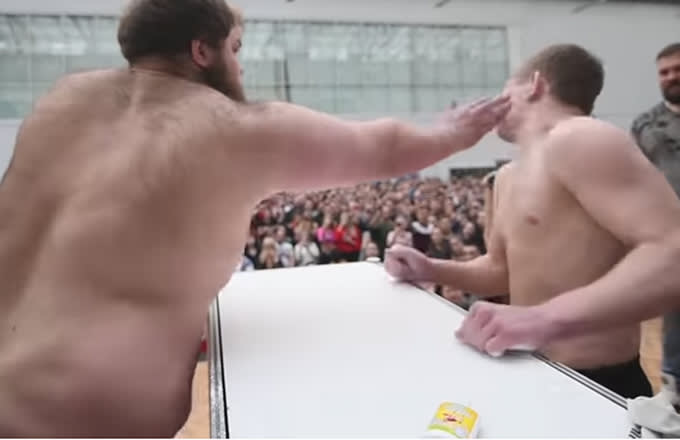 2 Guys Slap Each Other Hard AF for Russia's 'Male Slapping Championships'