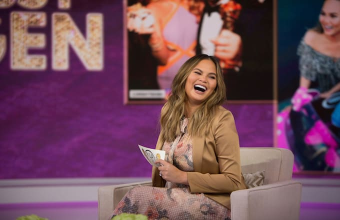 Chrissy Teigen Responds to Cardi B Wanting a Threesome With Her and Rihanna: 'Gasp!!'