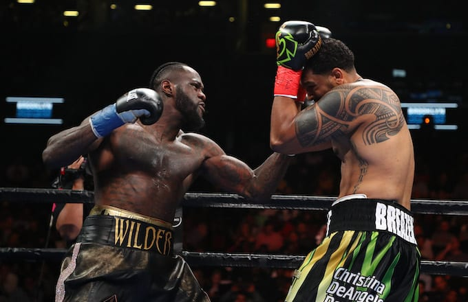 Deontay Wilder Defeats Dominic Breazeale With First-Round KO