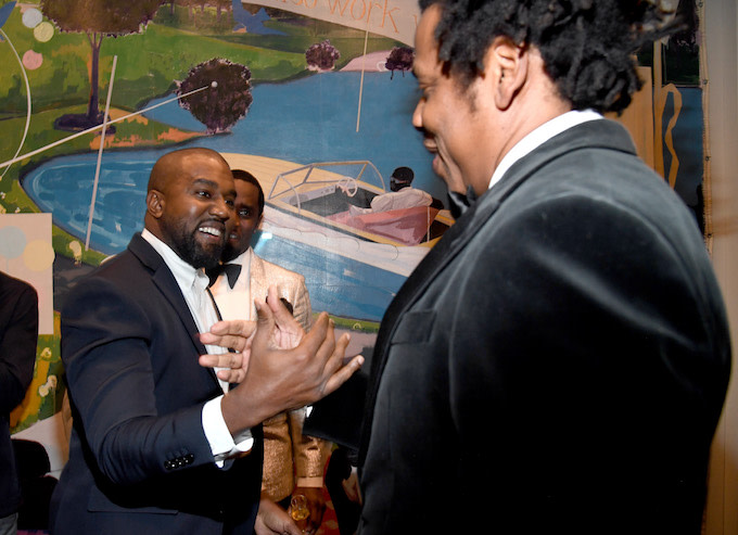 Kanye West and JAY-Z Reunite at Diddy's 50th Birthday Party