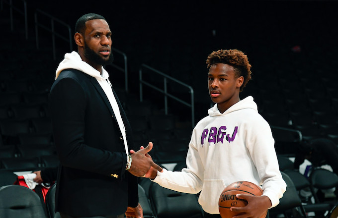 LeBron Says He 'Literally Cried' After Seeing His Sons Practicing Hoops Before Sunrise