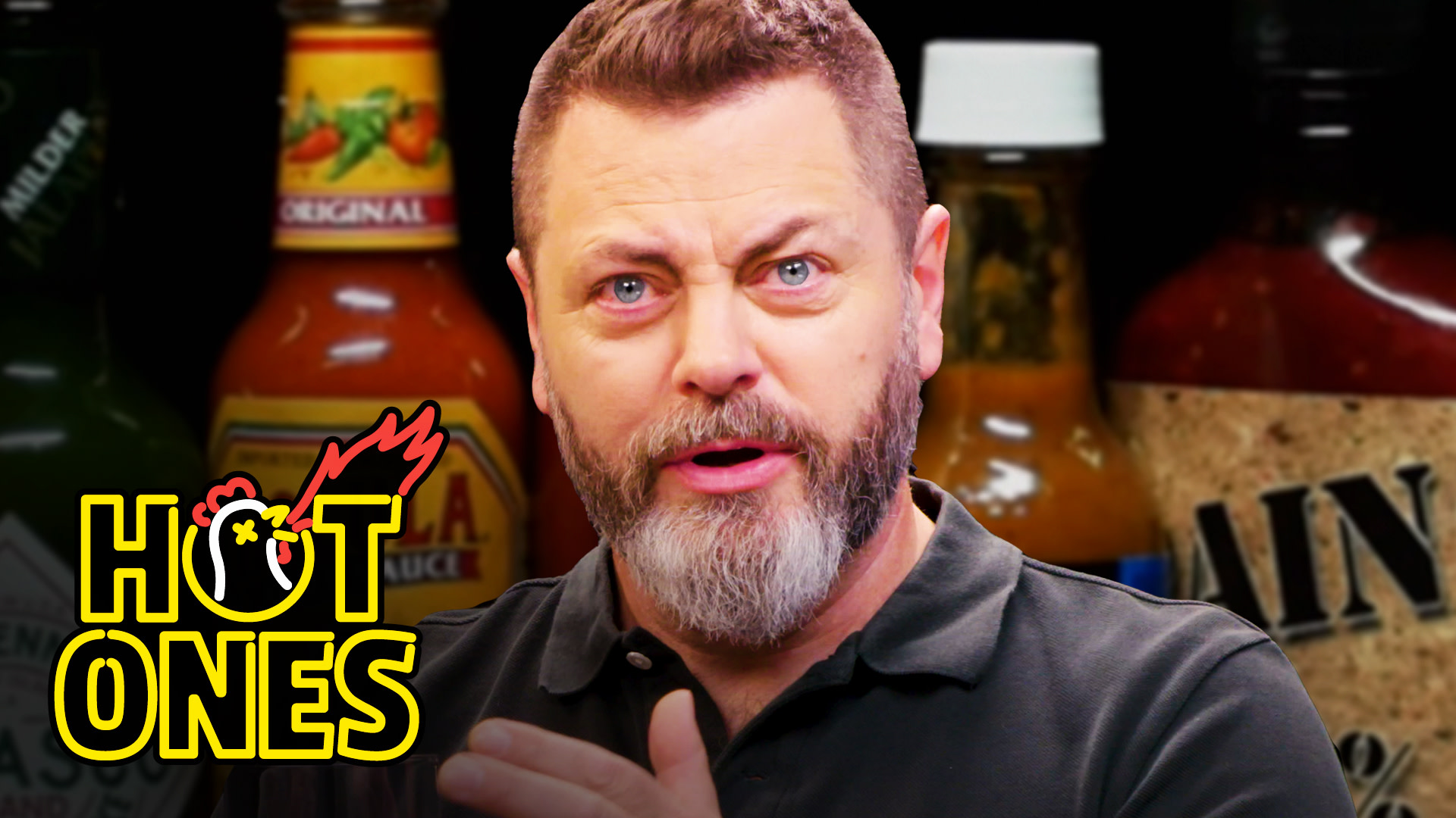 Nick Offerman Gets the Job Done While Eating Spicy Wings | Hot Ones