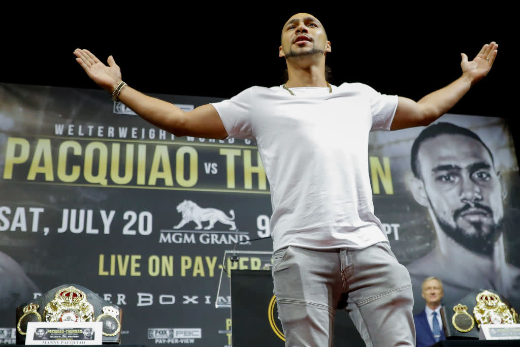Keith Thurman Tells Us Manny Pacquiao Is 'Not Gonna Like the End Result' of Their Title Fight