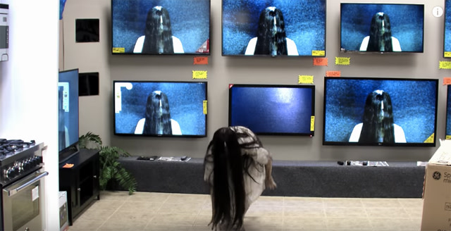Scary AF 'Rings' Prank Terrifies Customers Shopping for TVs