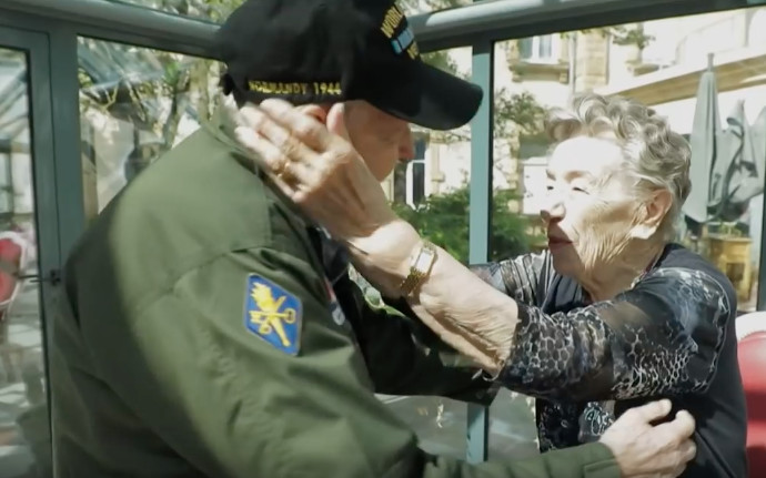 97-Year-Old D-Day Veteran Reunites With Lost Love 75 Years Later