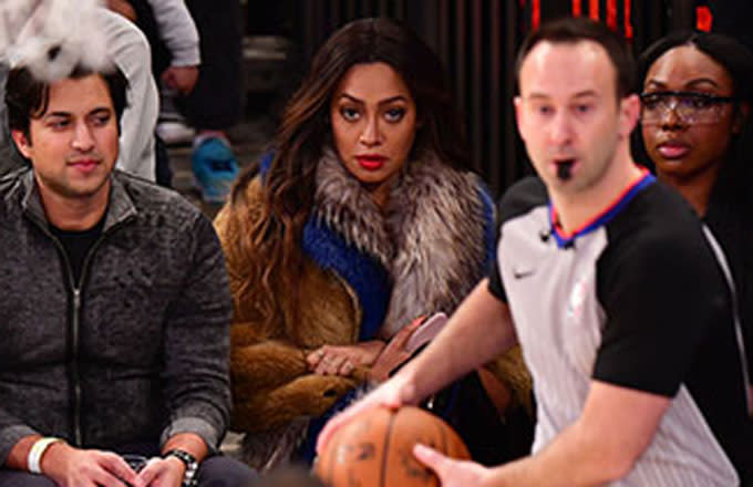 La La Anthony Staring at Carmelo Had the Internet Dropping Some Wild Opinions