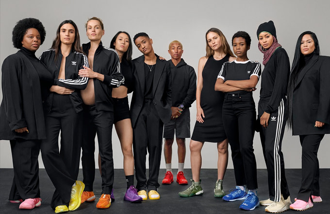 Pharrell Champions Women's Rights With 'Now Is Her Time' Adidas Originals Campaign