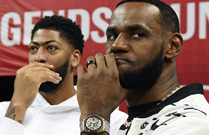 4c2c1fd8 LeBron James Will Have to Wait a Season to Gift Anthony Davis His No. 23  Jersey
