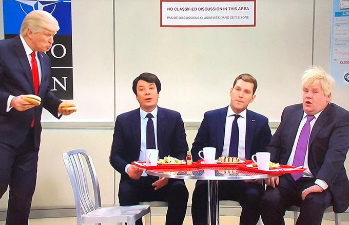 Jimmy Fallon, Paul Rudd, and James Corden Make Unforgettable Cameos in 'SNL' NATO Cafeteria Cold Open