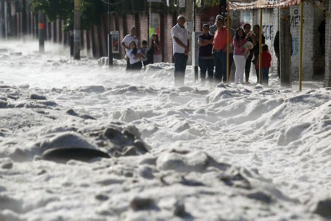 Hail Storm in Mexico Leaves Guadalajara Covered in Several Feet of Ice