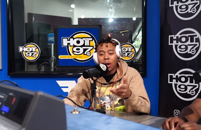 Watch YBN Cordae Impress Funkmaster Flex With His Freestyle