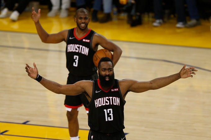 James Harden Says There's No Bad Blood Between Him and Chris Paul