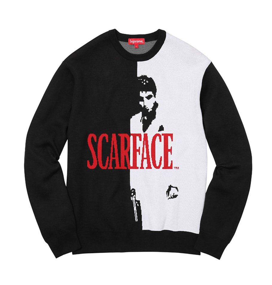aaa10a6f6513 Supreme's 'Scarface' Collection Brings the Cocaine Classic to Jerseys,  Lamps, and Skate Decks   Complex
