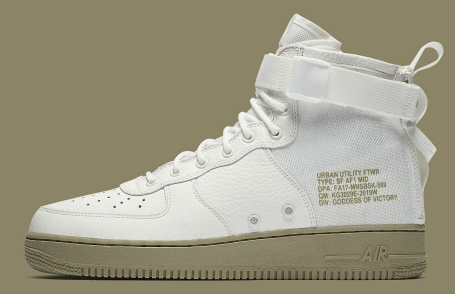 buy popular 4f0fb 90950 Nike SF Air Force 1 Mid Ivory Neutral Olive Release Date ...