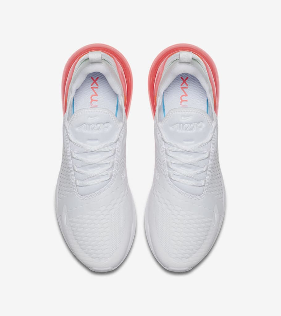 Nike Air Max 270  White Pack  Total Orange AH8050-102 Hot Punch AH8050-103  Photo Blue AH8050-105 Release Date  364fc68a6