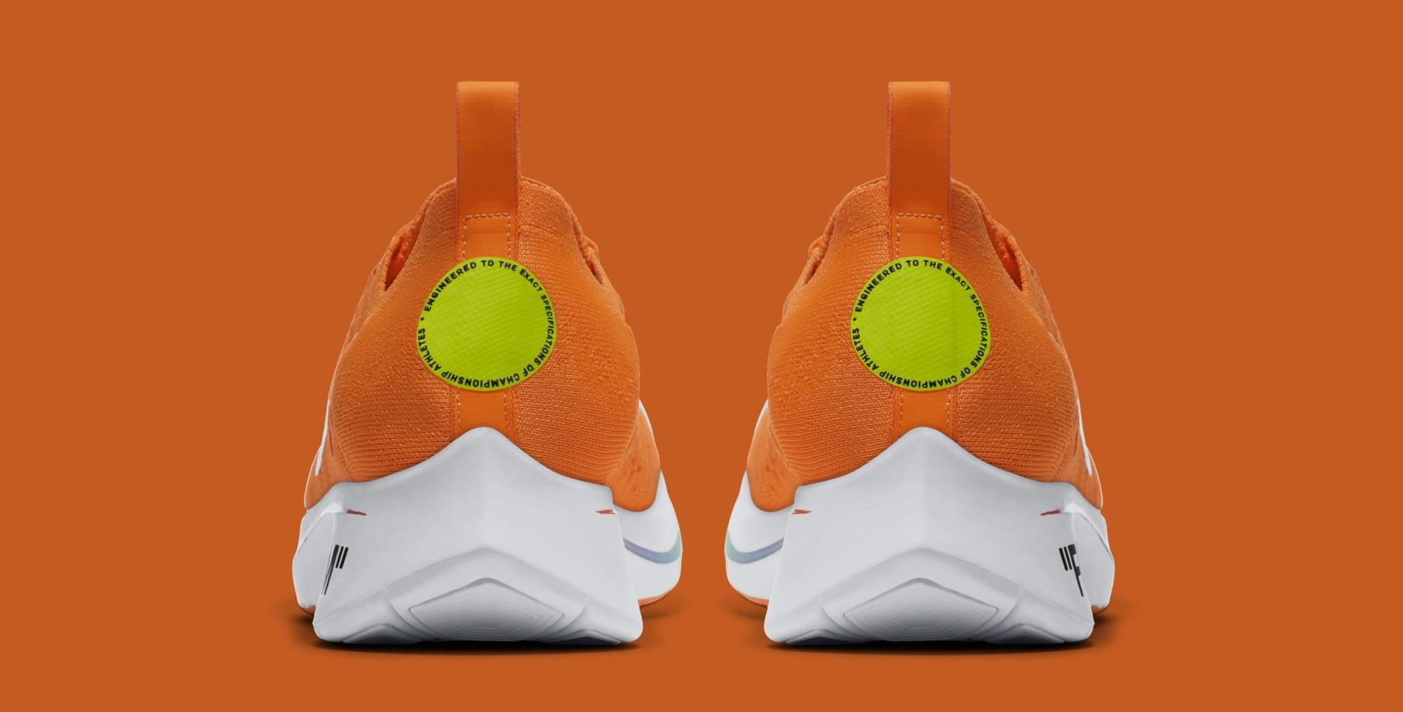 Off-White x Nike Zoom Fly Mercurial Flyknit 'Total Orange' AO2115-800 (Heel)