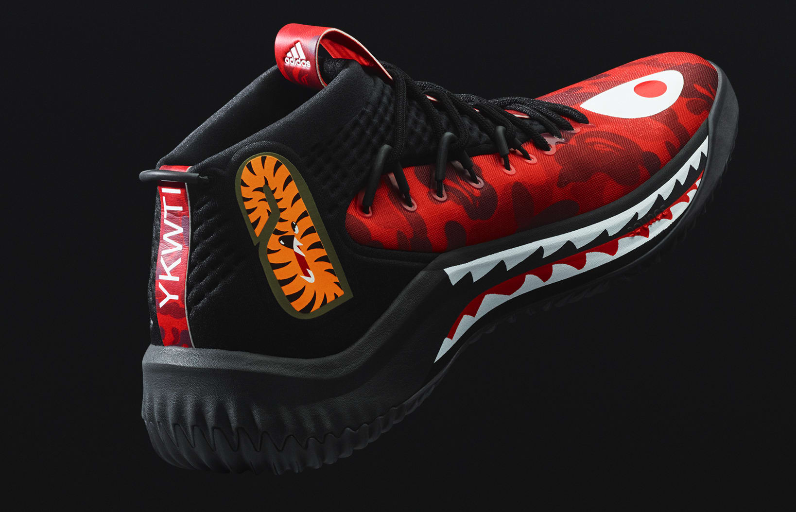 new concept a7b08 6d8bc Adidas Dame 4 x Bape Releasing in Red on Feb. 16, 2018 ...