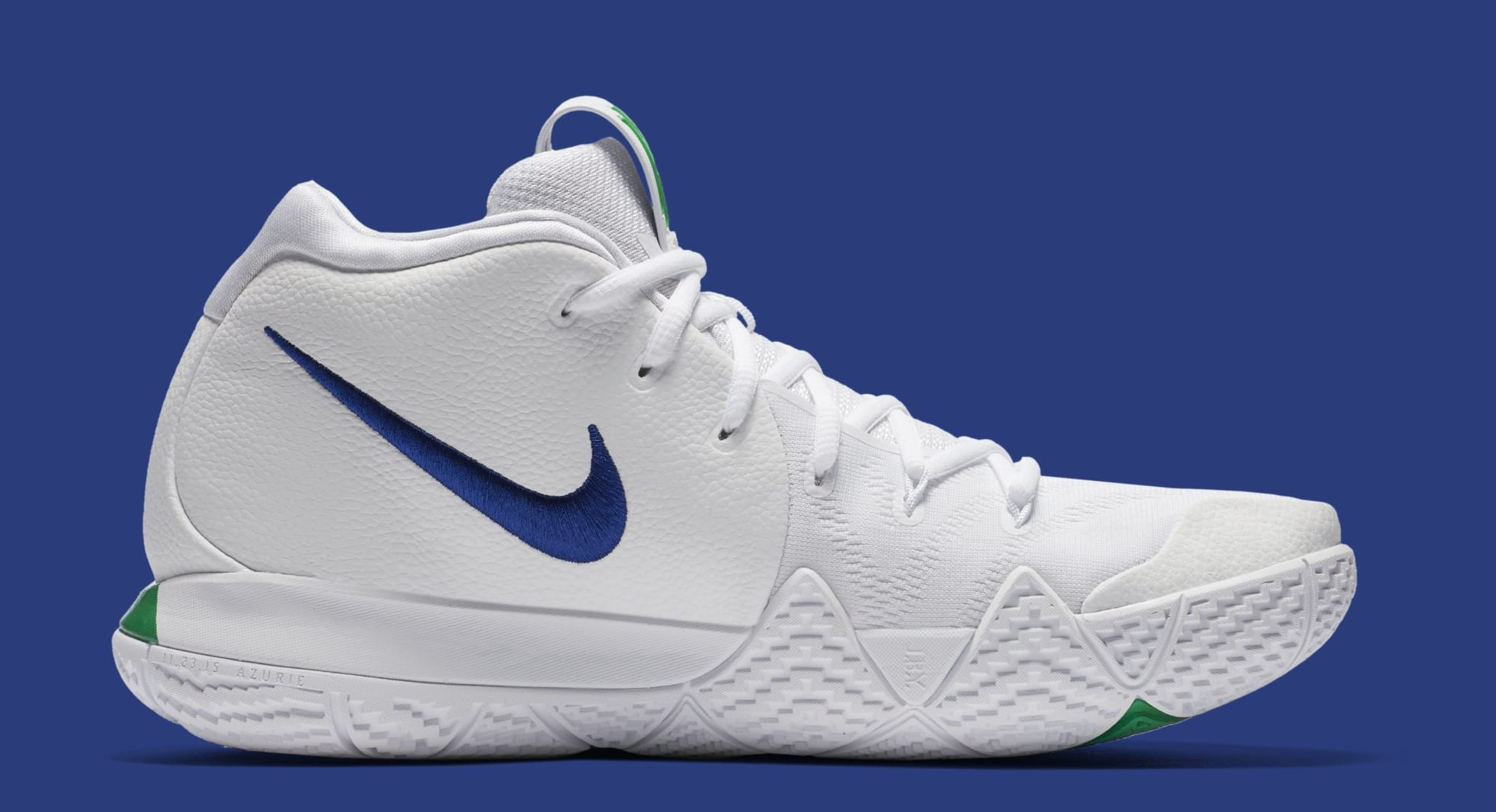 half off 0e9fc 48199 Nike Kyrie 4 White Deep Royal Blue Release Date 943806-103 ...