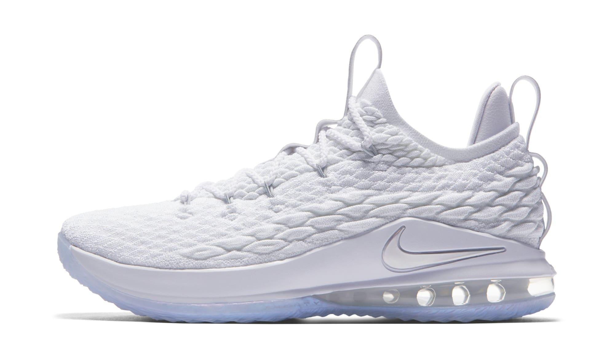 size 40 aa2bf bb6cd Nike LeBron 15 Low White Metallic Silver Release Date AO1755 ...