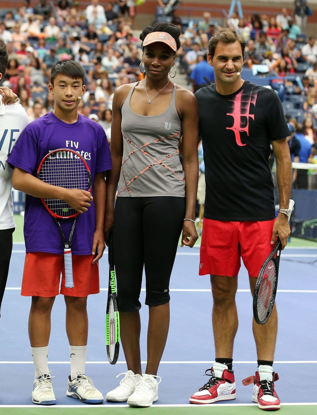 Roger Federer Plays Tennis in the Off-White x Air Jordan 1 | Sole ...