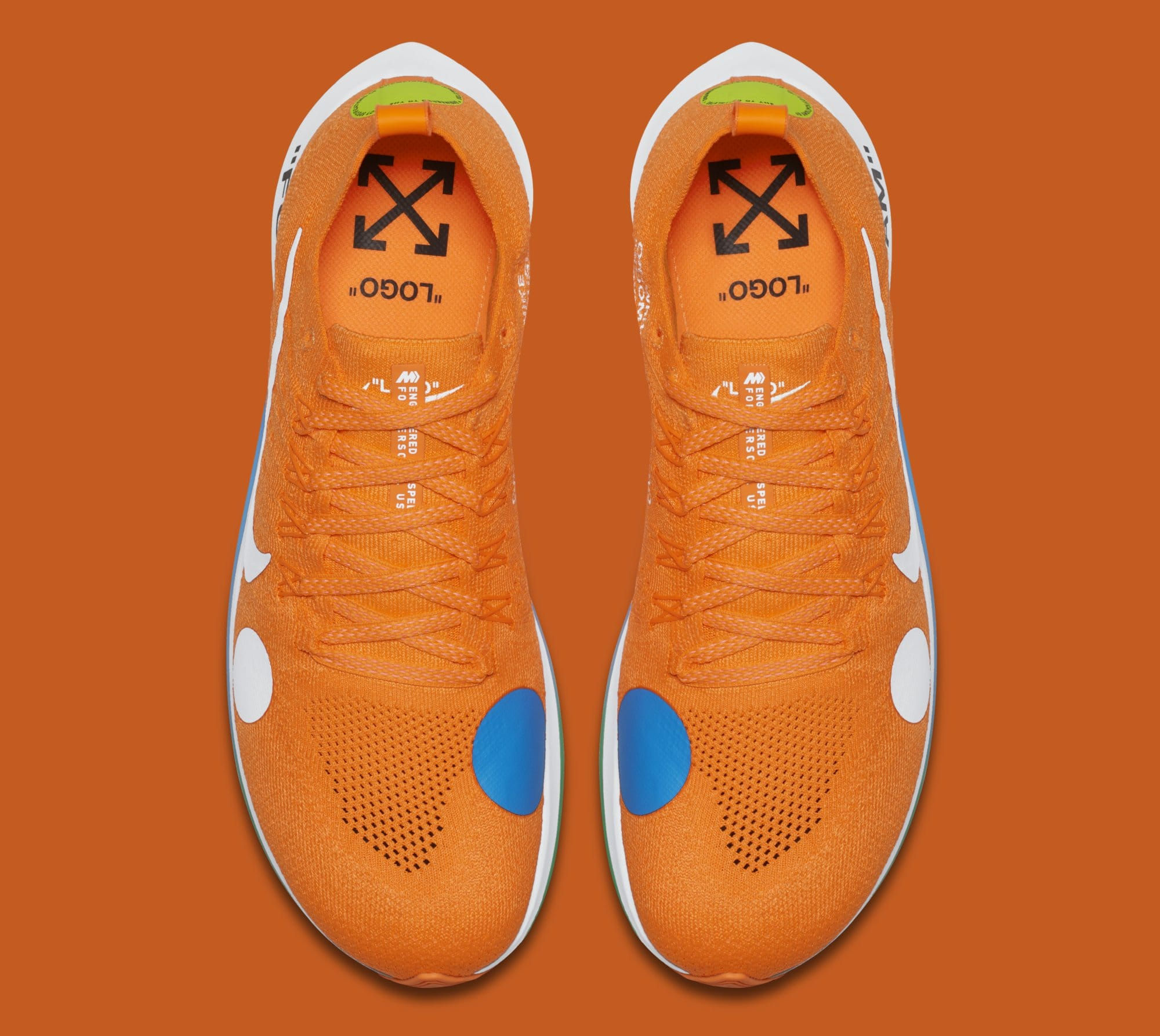 0ffd91c928a9 Image via Nike Off-White x Nike Zoom Fly Mercurial Flyknit  Total Orange   AO2115-800