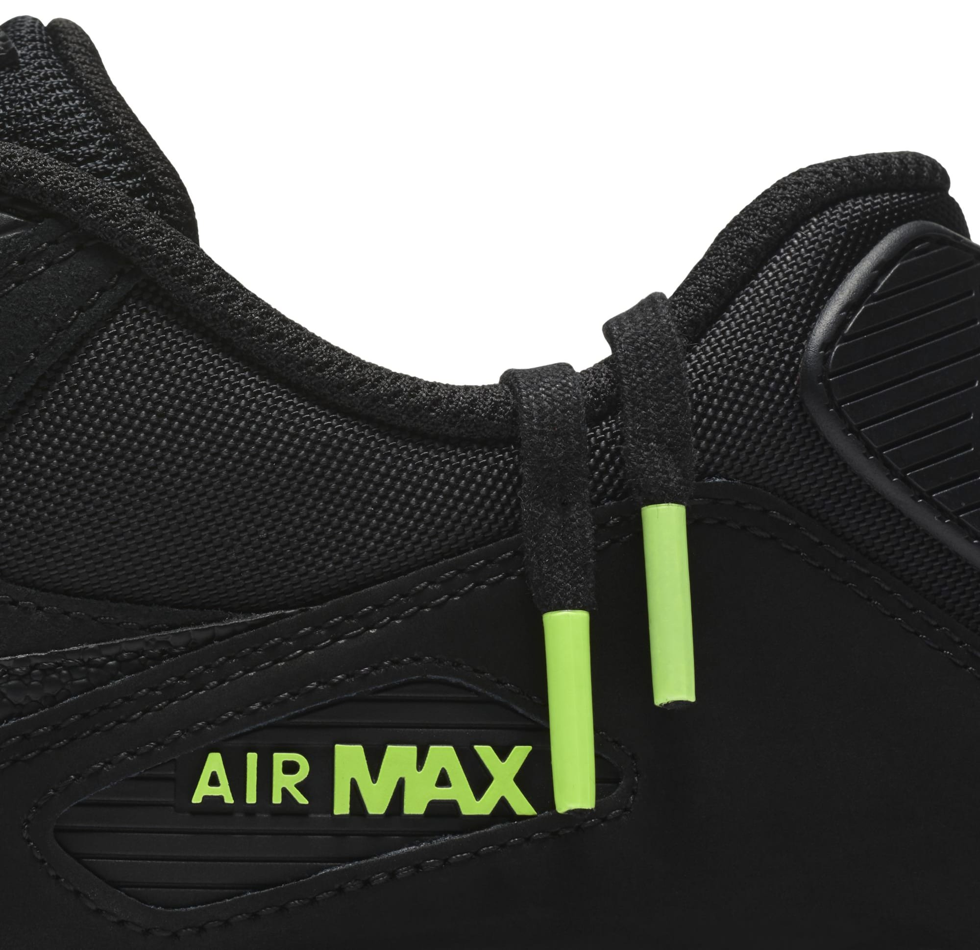 new styles 352ee 1e9fb Nike Air Max 90 Black/Black-Volt AQ6101-001 Release Date ...