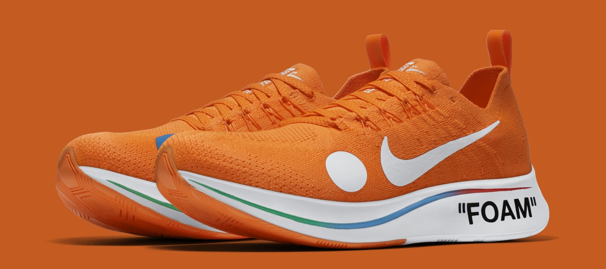 Off-White x Nike Zoom Fly Mercurial Flyknit 'Total Orange' AO2115-800 (Pair)