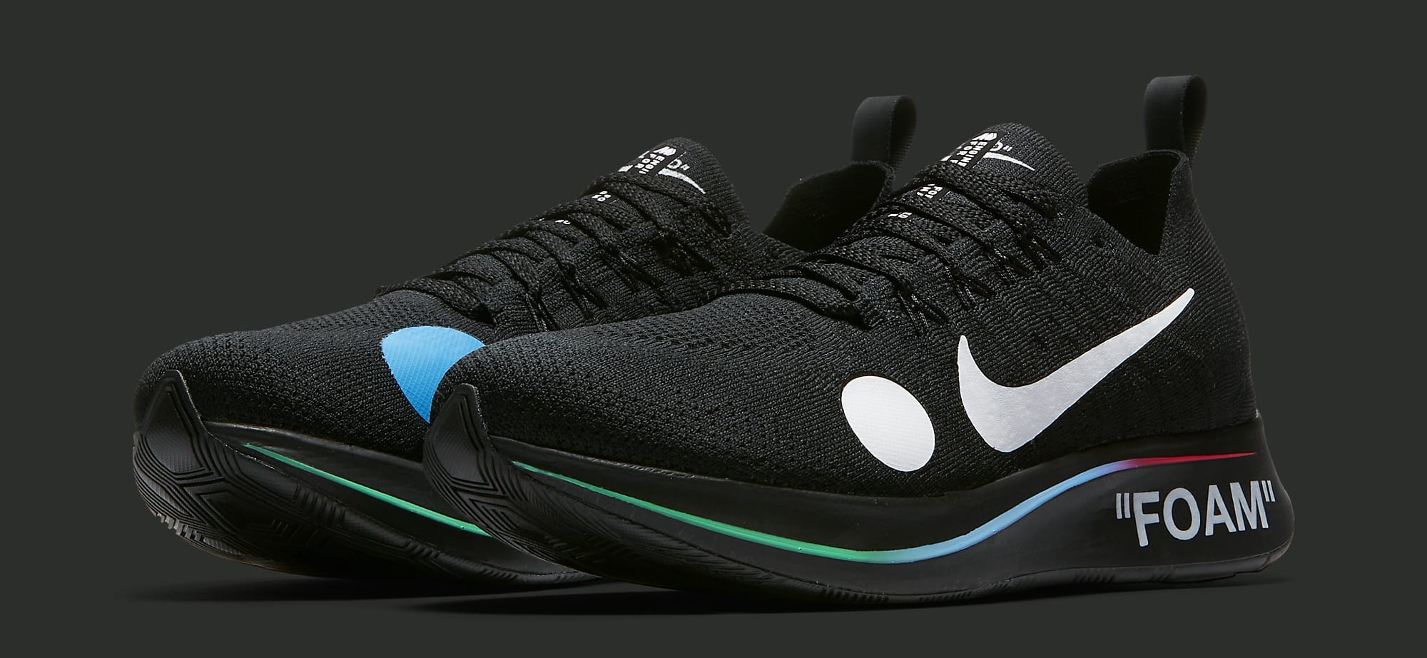 Off-White x Nike Zoom Fly Mercurial Flyknit 'Black' AO2115-001 (Pair)