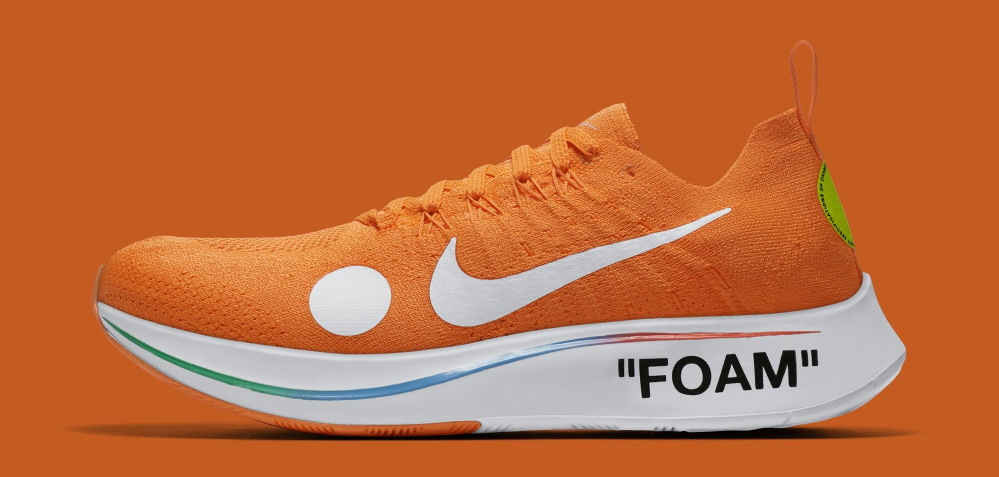 Off-White x Nike Zoom Fly Mercurial Flyknit 'Total Orange' AO2115-800 (Lateral)