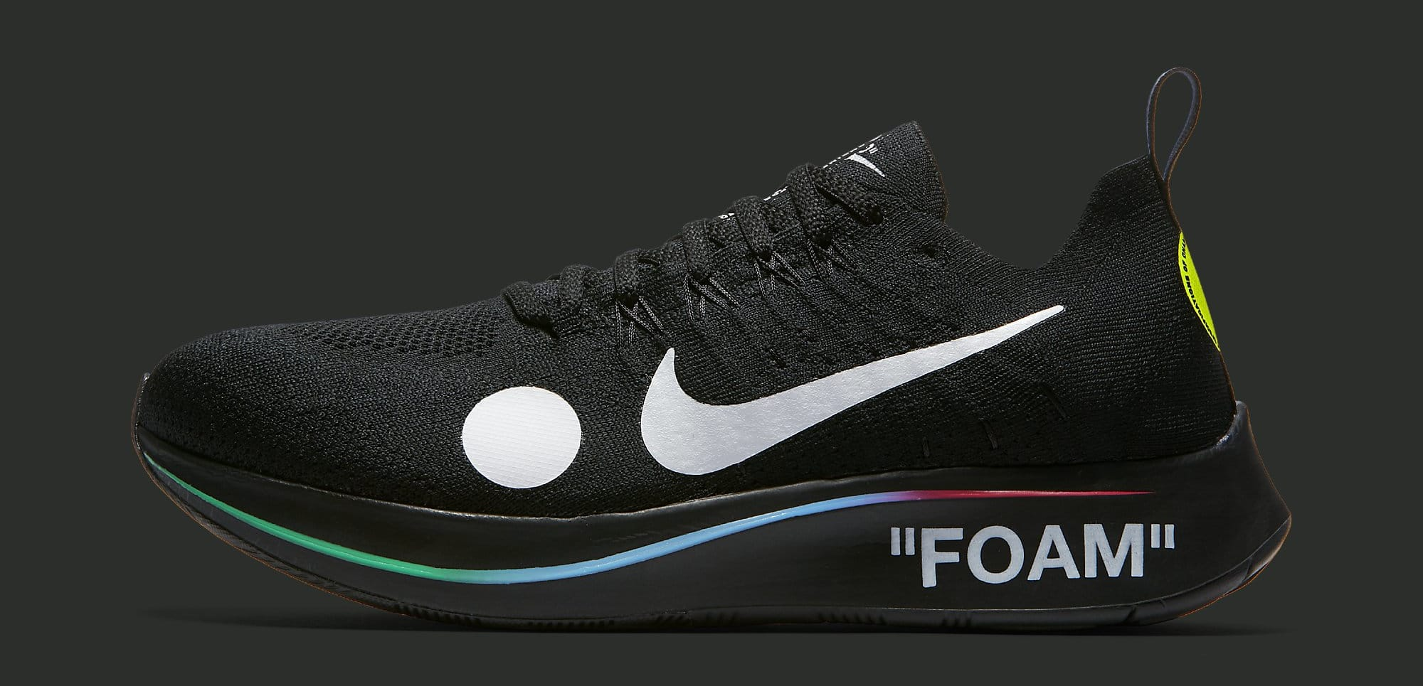 Off-White x Nike Zoom Fly Mercurial Flyknit 'Black' AO2115-001 (Lateral)